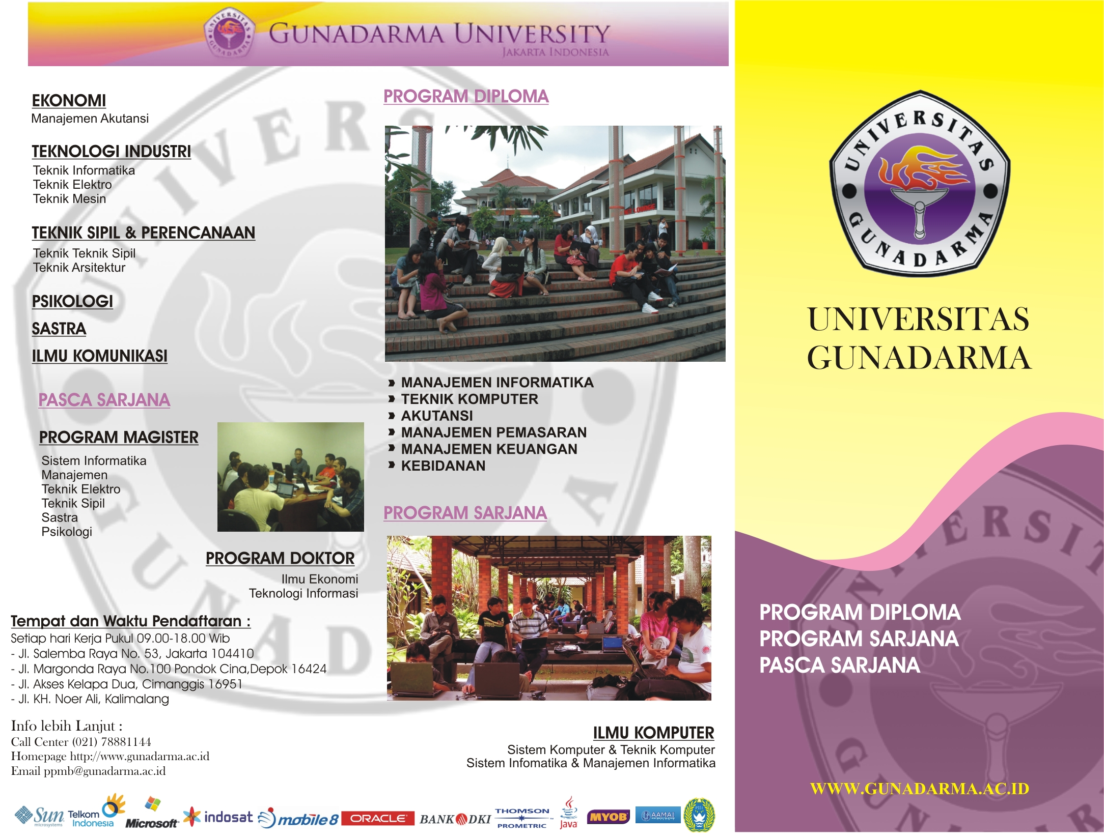 Brosure Gunadarma University Ilmu Komunikasi